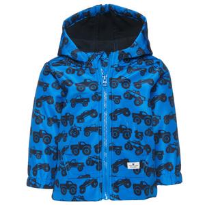 Softshell-Jacke mit Fahrzeug-Print