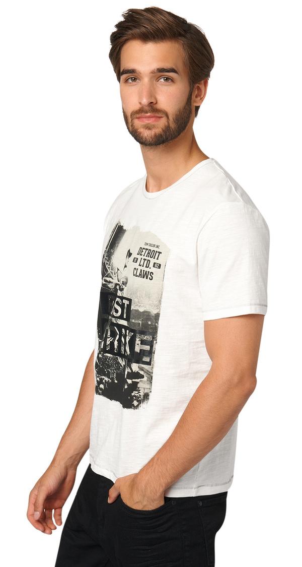 T-Shirt mit Schwarz-Weiß-Print von Tom Tailor für 12,99