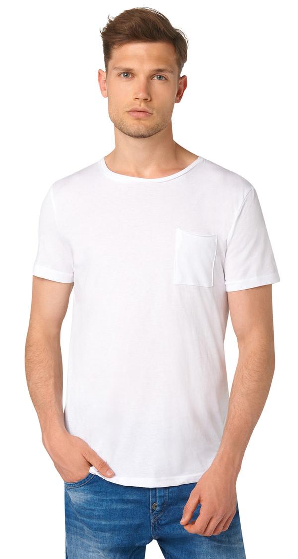 schlichtes t shirt mit brusttasche von tom tailor f r 9 99. Black Bedroom Furniture Sets. Home Design Ideas