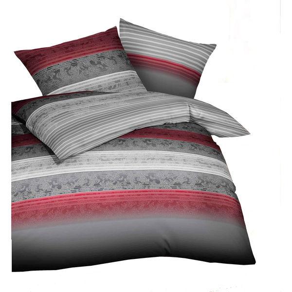 kaeppel satinbettw sche palace grau rot von karstadt. Black Bedroom Furniture Sets. Home Design Ideas
