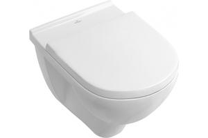 V&B Wand-Tiefspül-WC Targa spülrandlos, weiss, mit WC-Sitz