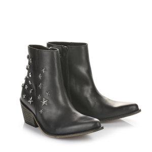 Buffalo Cowboy-Stiefelette in schwarz