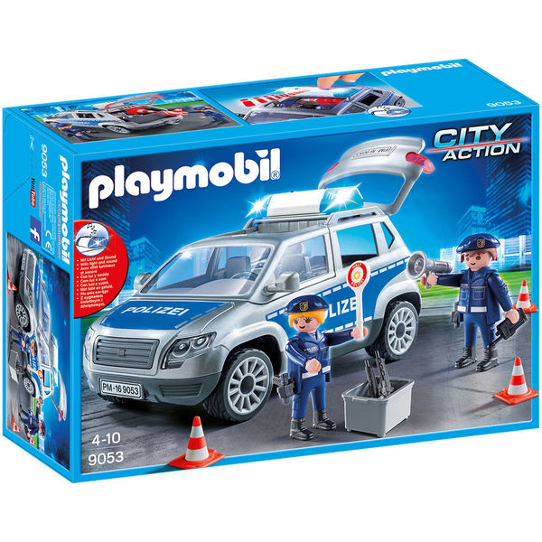 playmobil city action 9053 polizei gel ndewagen mit licht. Black Bedroom Furniture Sets. Home Design Ideas