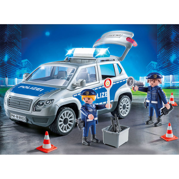 playmobil® city action 9053 polizeigeländewagen mit licht
