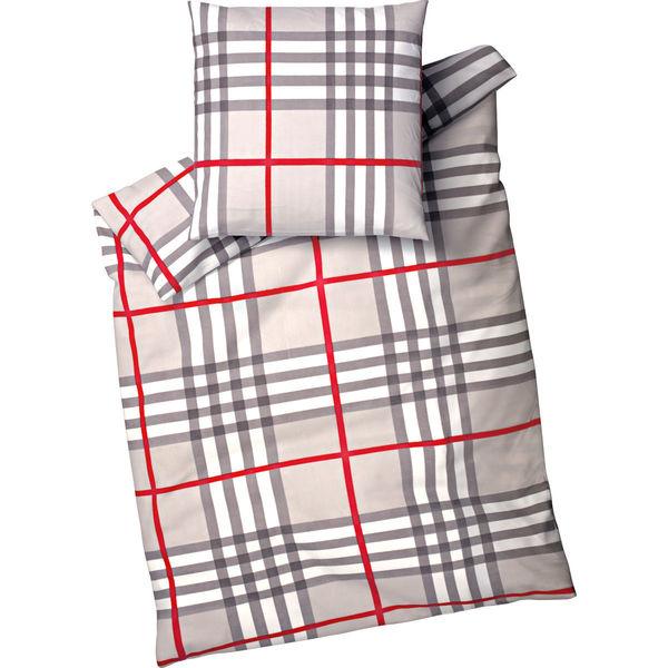 time to relax fleece bettw sche lagos 135x200 cm grau rot von karstadt ansehen. Black Bedroom Furniture Sets. Home Design Ideas