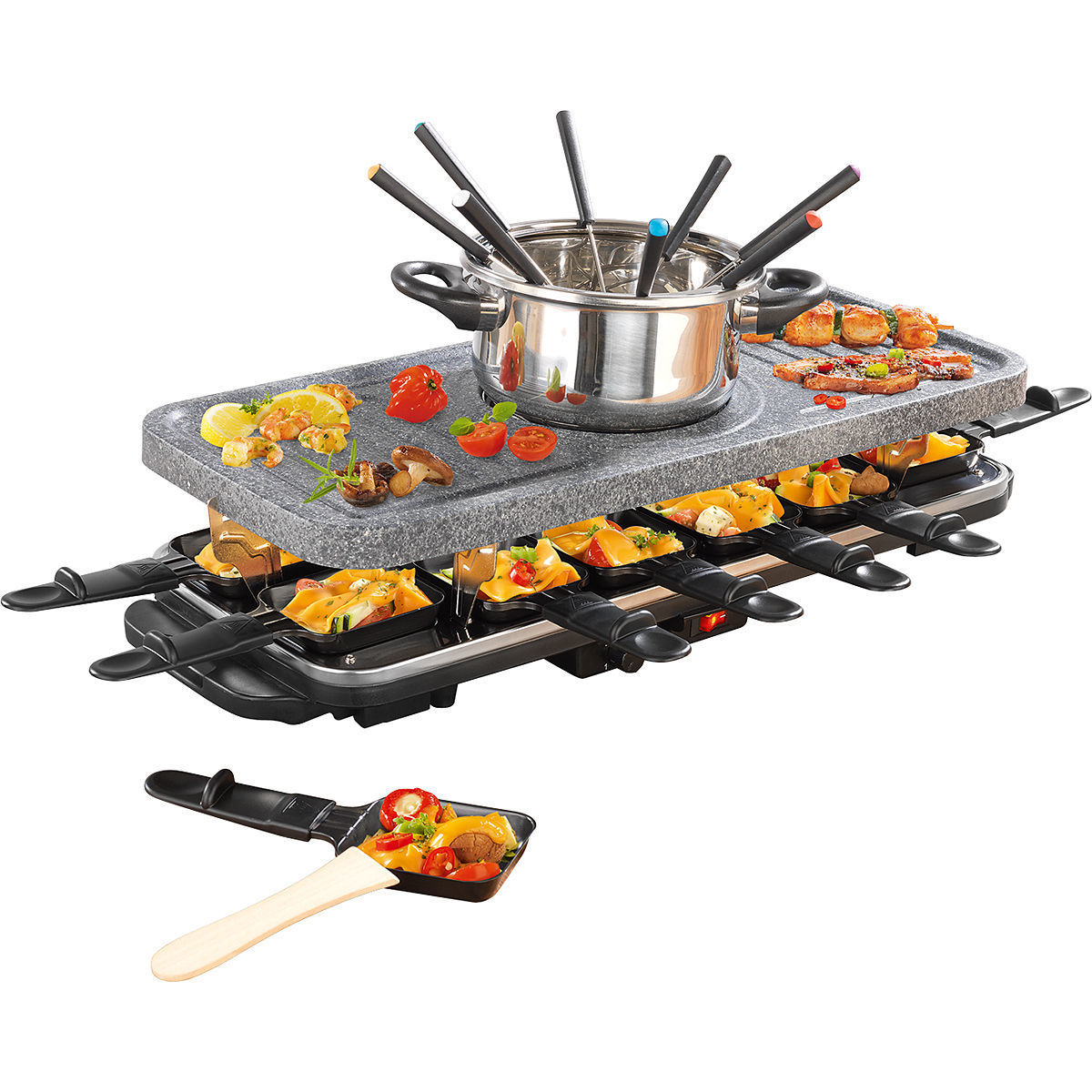 gourmetmaxx raclette und fondue set granit keramik von karstadt f r 69 99 ansehen. Black Bedroom Furniture Sets. Home Design Ideas