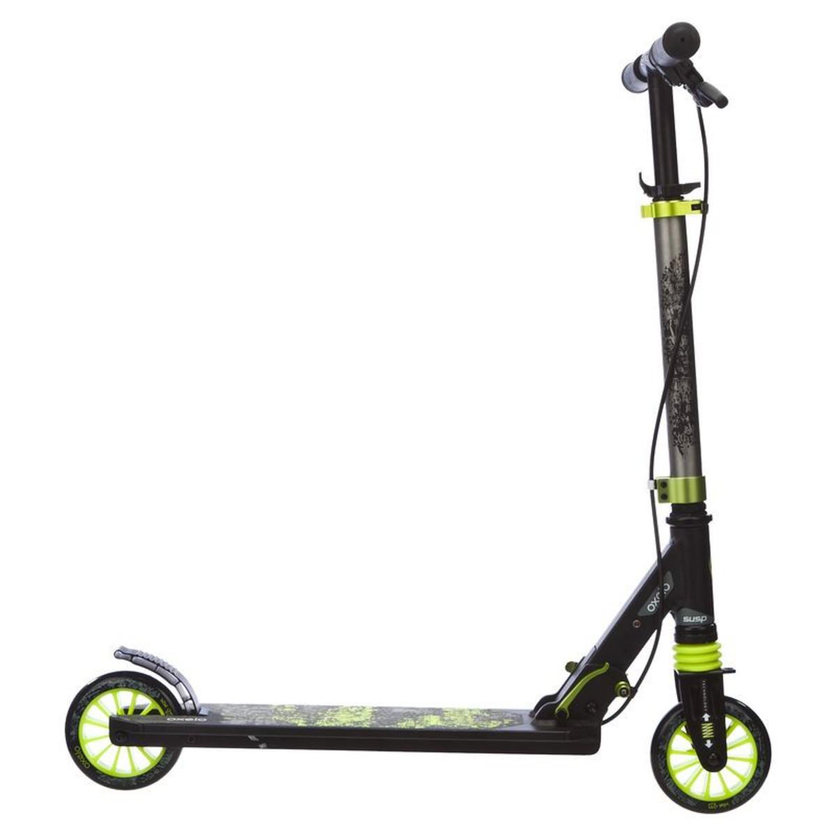 city roller scooter mid 5 easybrake kinder gr n grau oxelo. Black Bedroom Furniture Sets. Home Design Ideas