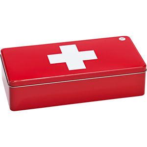 Zeller Present Medizinbox, Metall 32x15,5 cm, rot