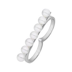 JETTE Silver Damenring Pearl 60082341