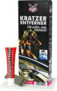 D&W Kratzerentferner-Set 4 teilig für Acryl- & Plexiglas