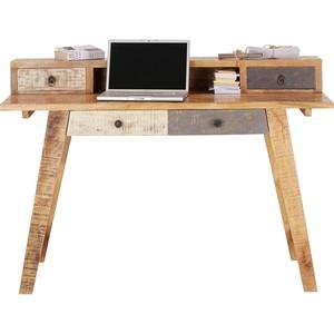 Schreibtisch in Braun/Weiß aus Mangoholz