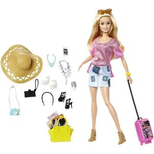 Barbie - Puppe inkl. Reisekoffer + Schmuck