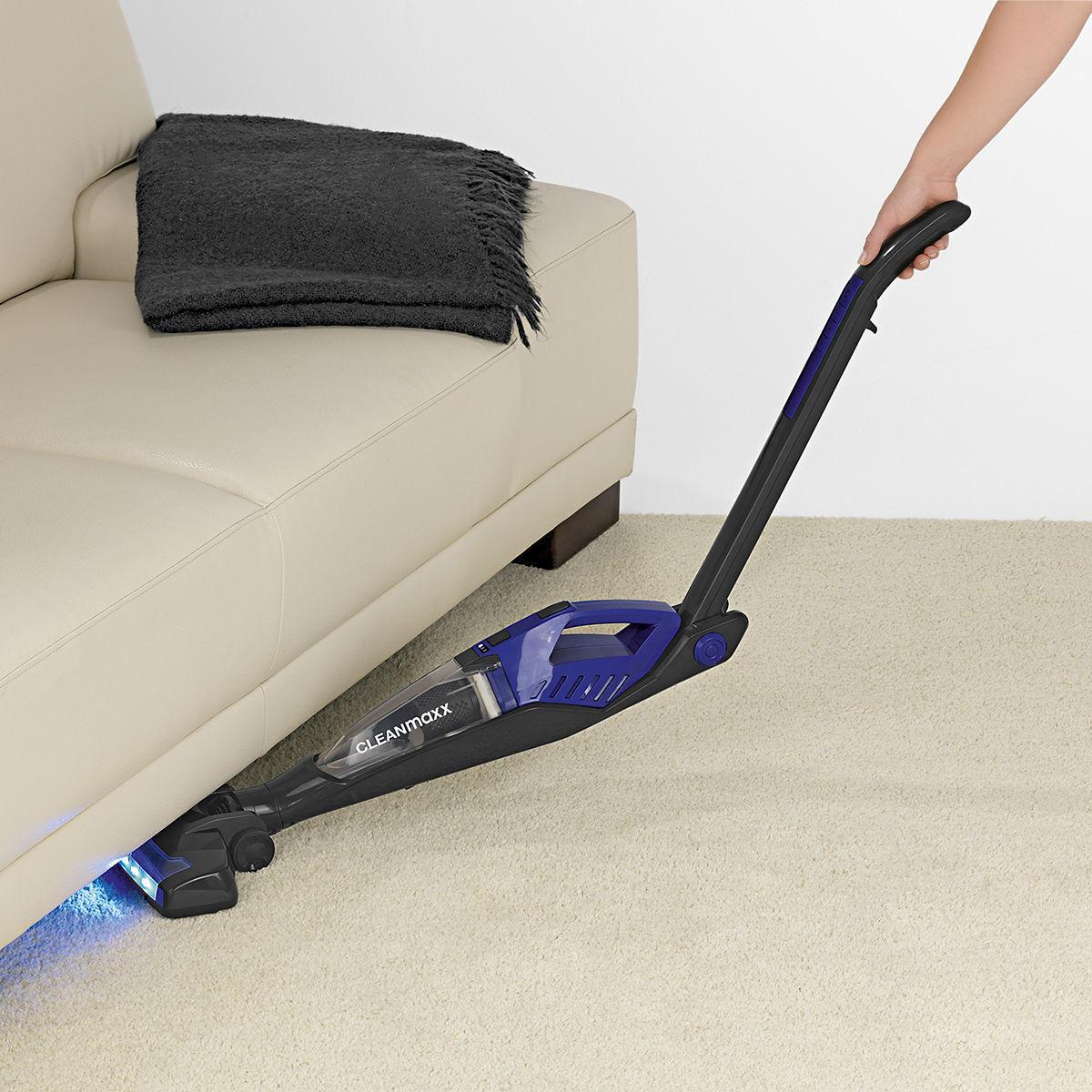 cleanmaxx akku handstaubsauger 2in1 pro schwarz blau von karstadt ansehen. Black Bedroom Furniture Sets. Home Design Ideas