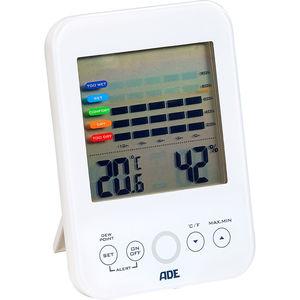 """ADE Hygrometer mit Schimmelalarm """"WS 1500"""", weiß"""