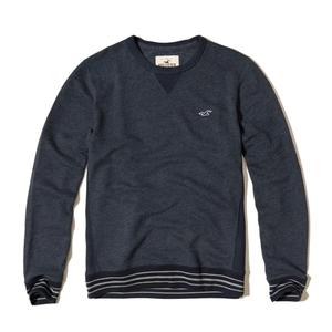 Farbblock-Sweatshirt mit Rundhalsausschnitt