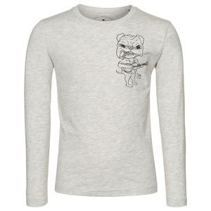 Langarm-Shirt mit Hunde-Print