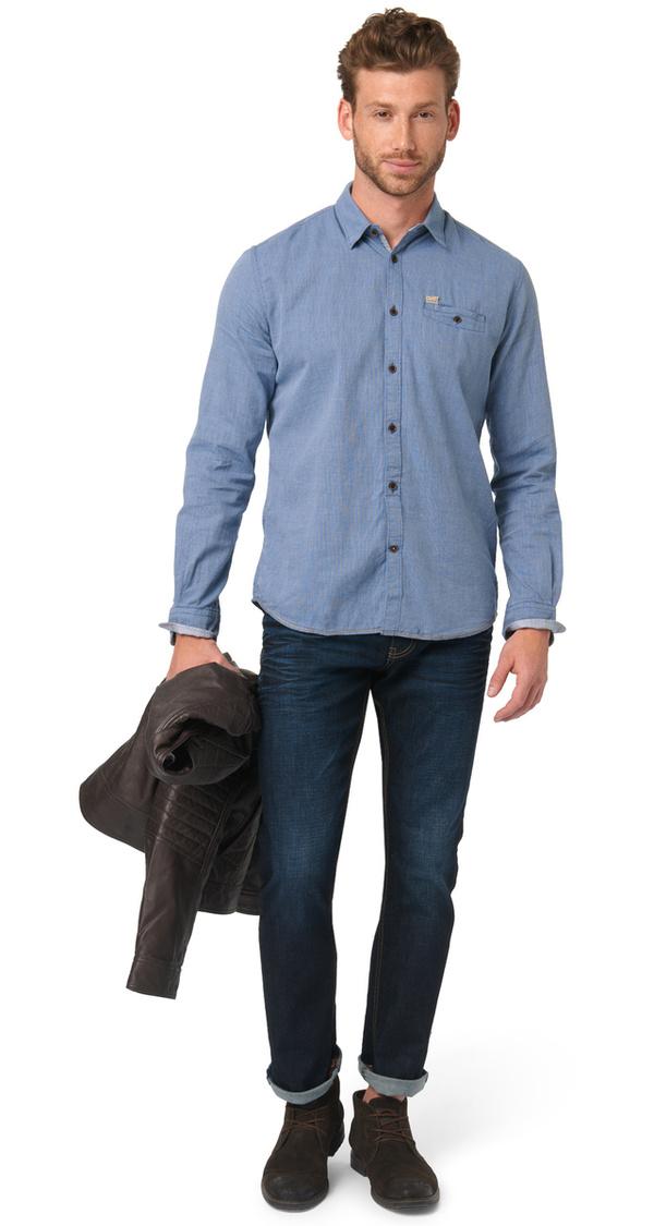 gemustertes hemd mit brusttasche von tom tailor ansehen. Black Bedroom Furniture Sets. Home Design Ideas