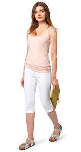 Capri-Jeans mit Crinkles