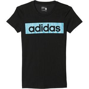 adidas Damen-T-Shirts Climalite  Essentials Linear