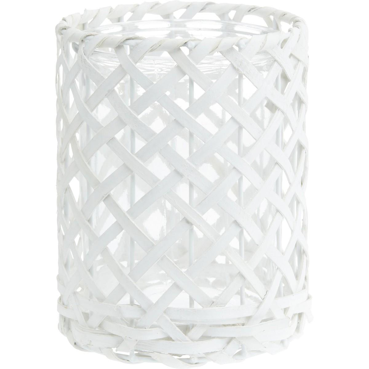 Bild 1 von Windlicht Antonia in Weiß aus Glas/holz