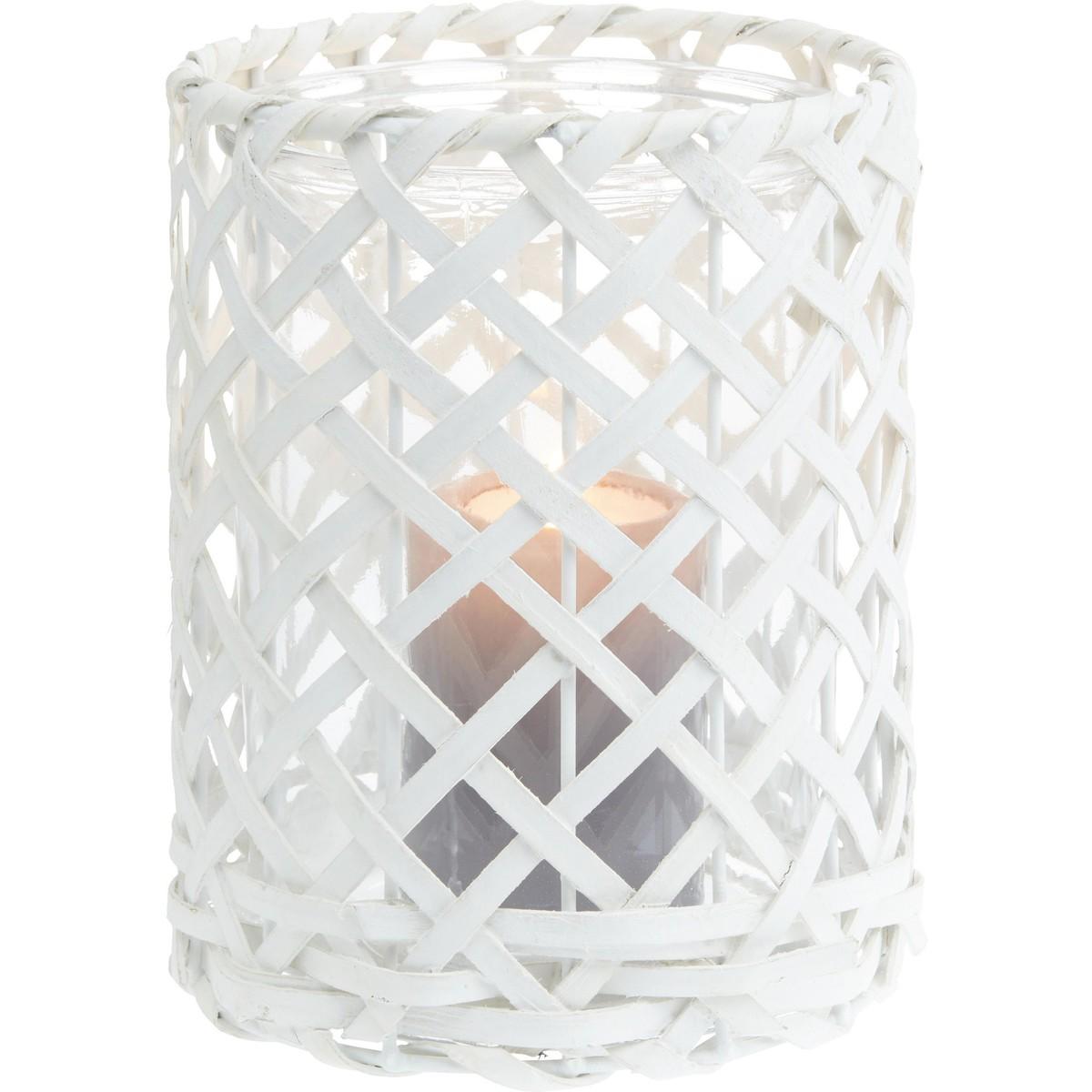 Bild 2 von Windlicht Antonia in Weiß aus Glas/holz