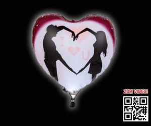 LED-Folienballon Herz
