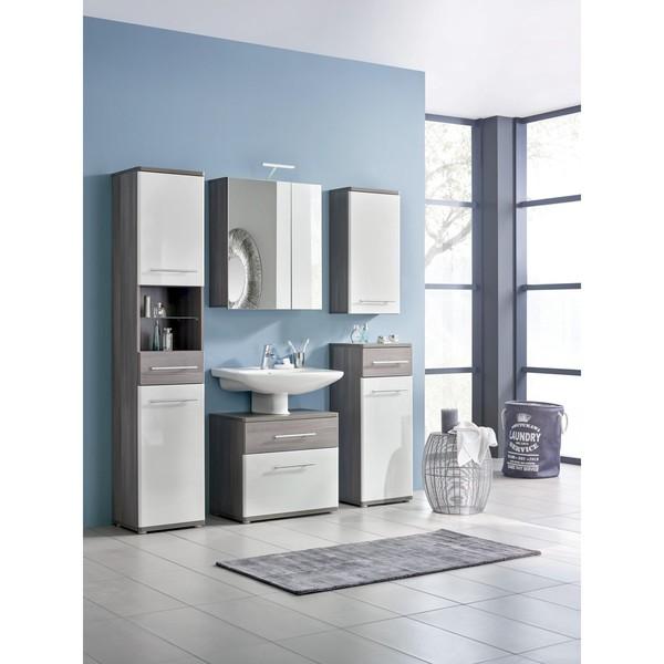 hochschrank in braun wei von m max ansehen. Black Bedroom Furniture Sets. Home Design Ideas