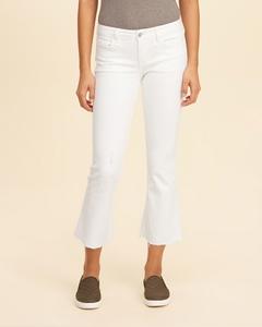 Hollister Kurz geschnittene Low Rise Flare Jeans