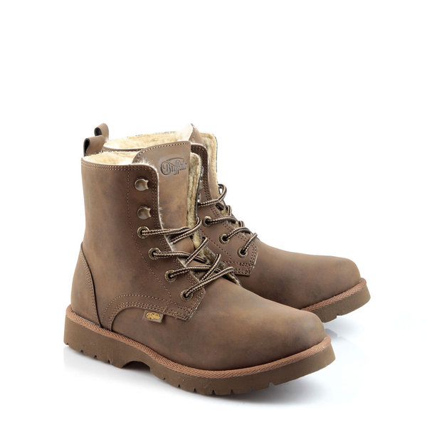 gef tterte buffalo boots in braun von buffalo f r 59 90 ansehen. Black Bedroom Furniture Sets. Home Design Ideas