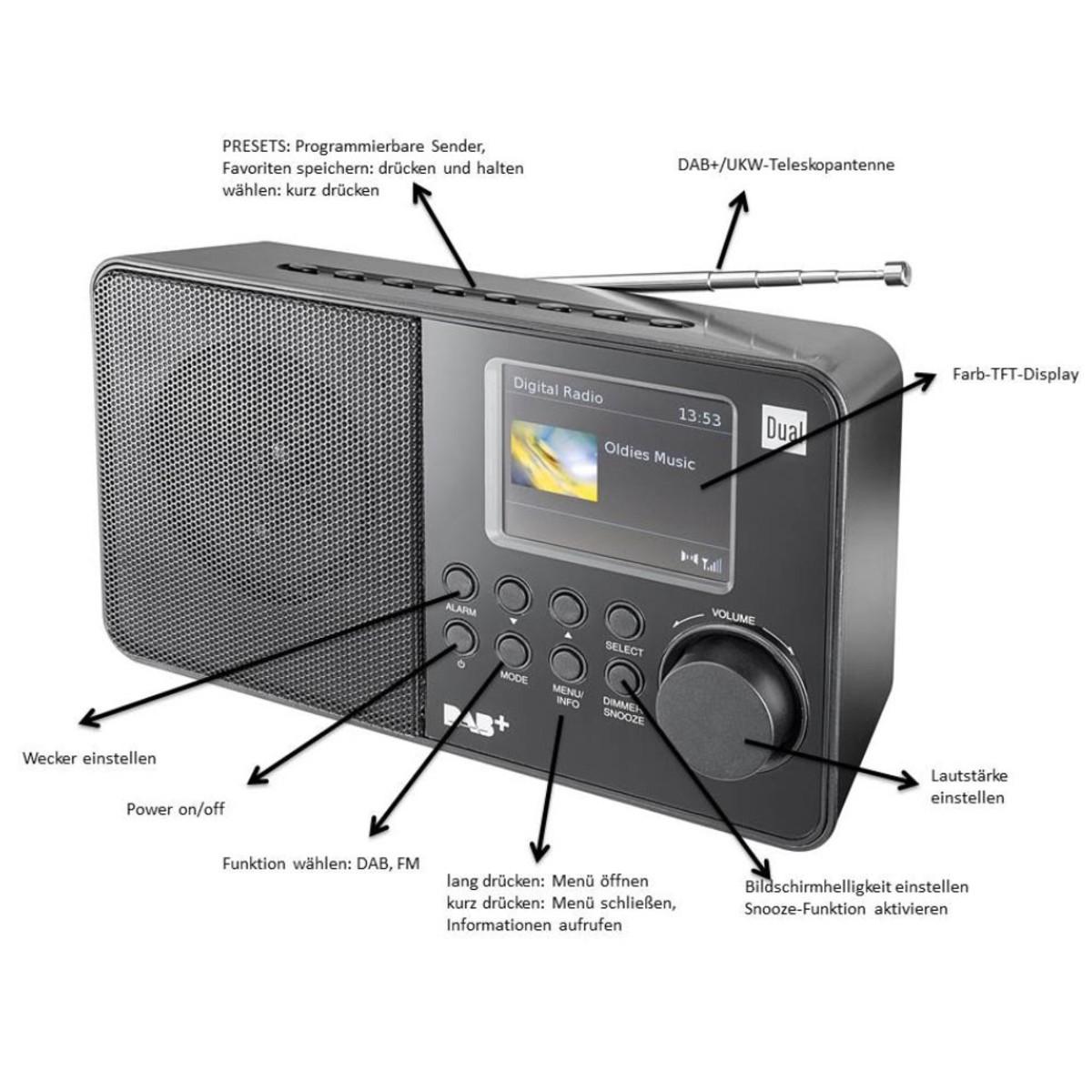 Bild 3 von DUAL Portables DAB+/ UKW-Radio DAB 18C