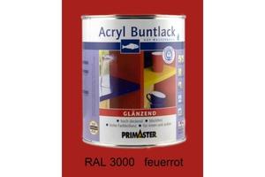 Primaster Acryl Buntlack feuerrot glänzend, 750 ml