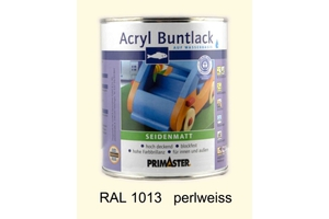 Primaster Acryl Buntlack perlweiss seidenmatt, 750 ml