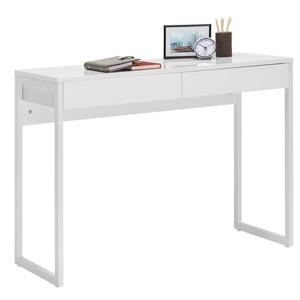 CARRYHOME COMPUTERTISCH, Silber, Weiß