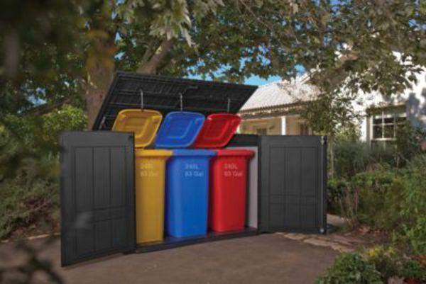 Keter Duo Tech Grande Store 2100 Liter Mülltonnenbox