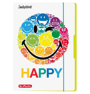 "HERLITZ        Zeichenmappe ""Smiley World Rainbow"" DIN A3"