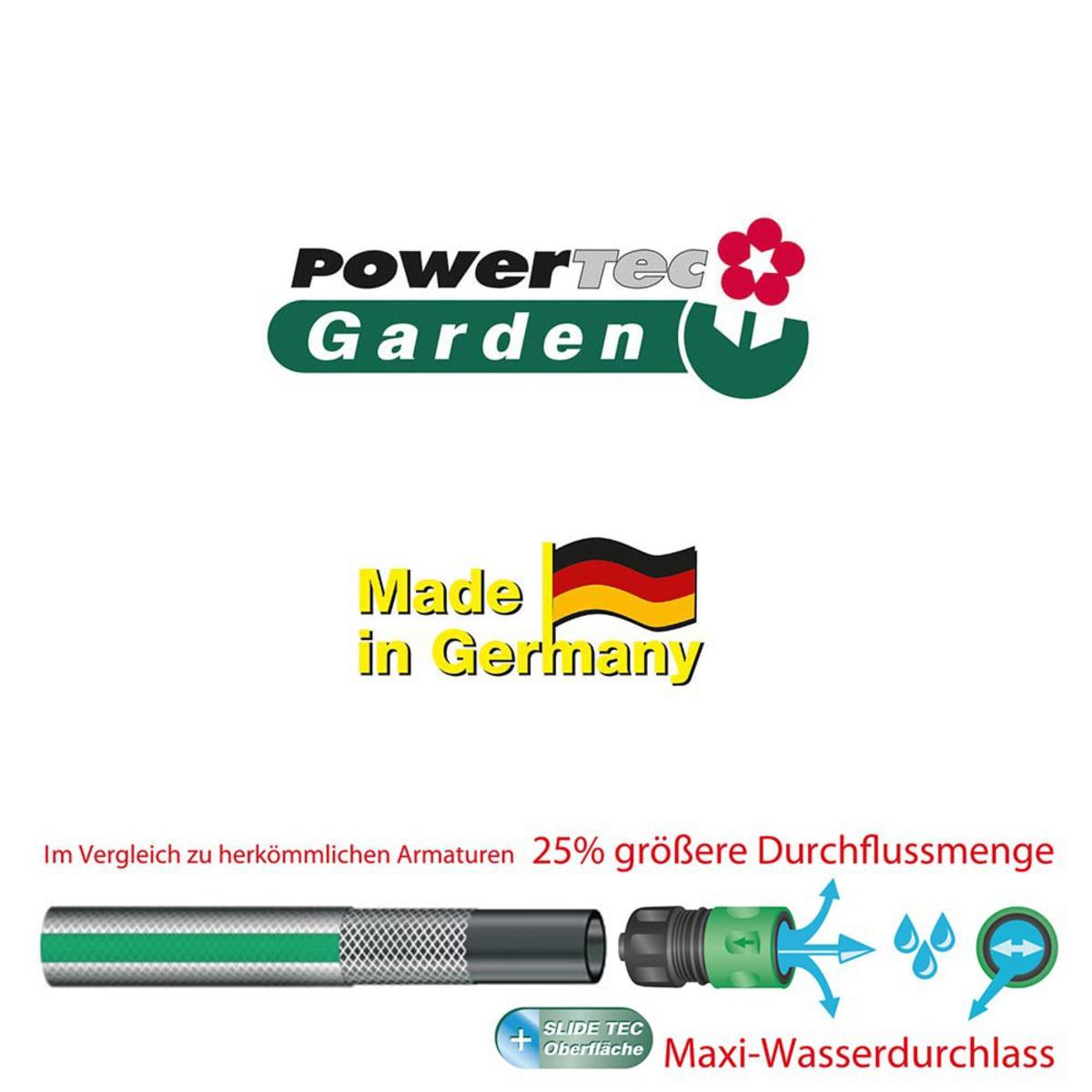 """Bild 2 von Powertec Garden Gartenschlauch """"SlideTec"""", 3/4"""", 15 m, Dunkelgrün"""