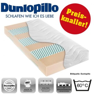 Kaltschaum Coltex Matratze 80x200cm 7 Zonen H3 Dunlopillo Multi Care