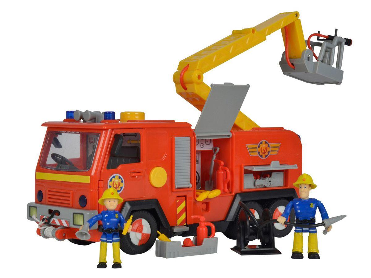 Bild 1 von Simba Feuerwehrmann Sam Feuerwehrauto Jupiter mit 2 Figuren