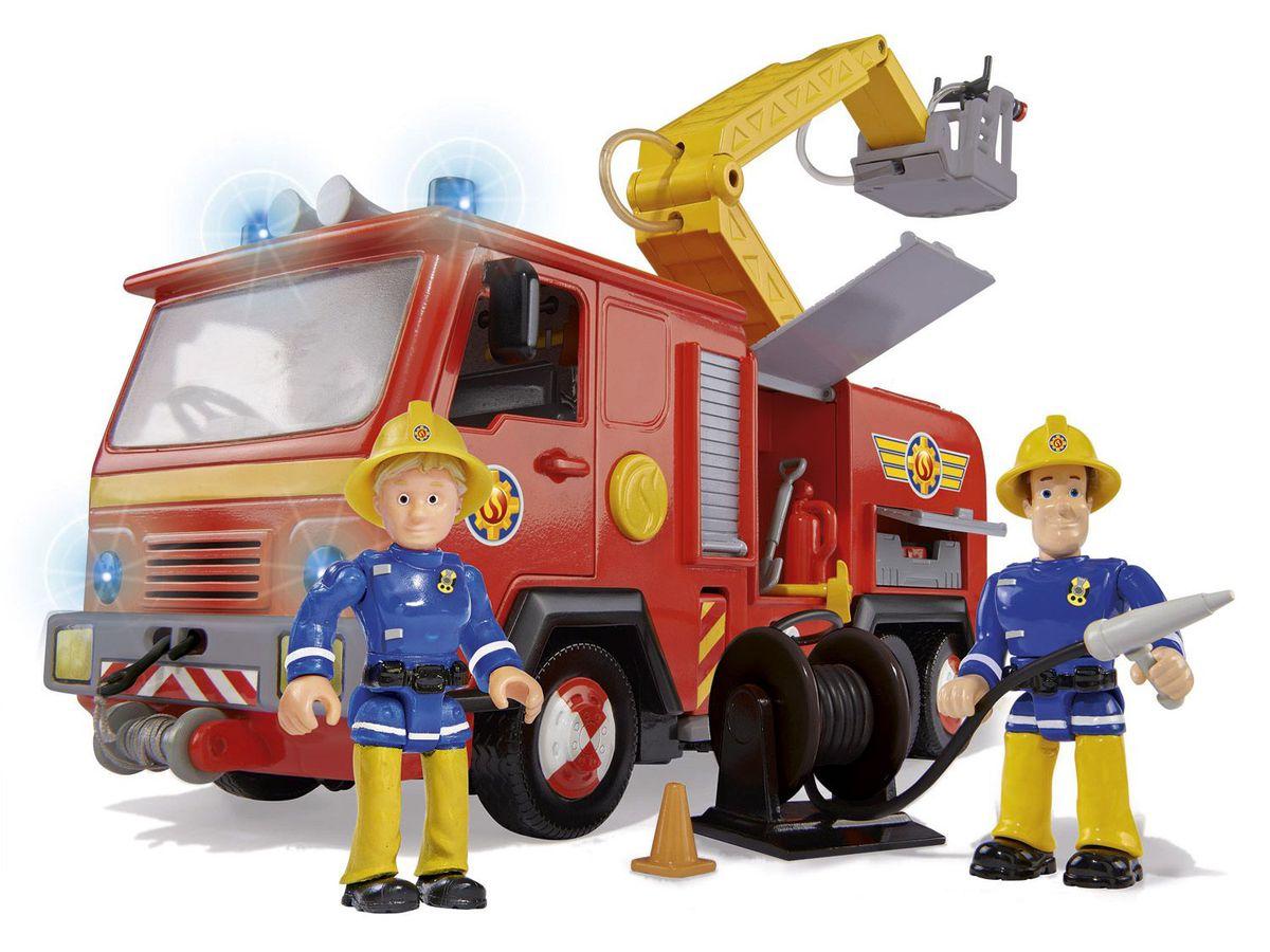 Bild 2 von Simba Feuerwehrmann Sam Feuerwehrauto Jupiter mit 2 Figuren