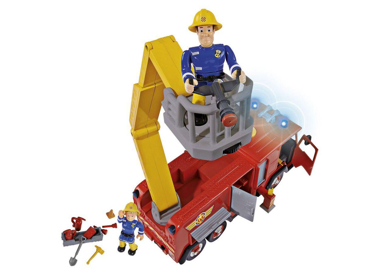 Bild 3 von Simba Feuerwehrmann Sam Feuerwehrauto Jupiter mit 2 Figuren