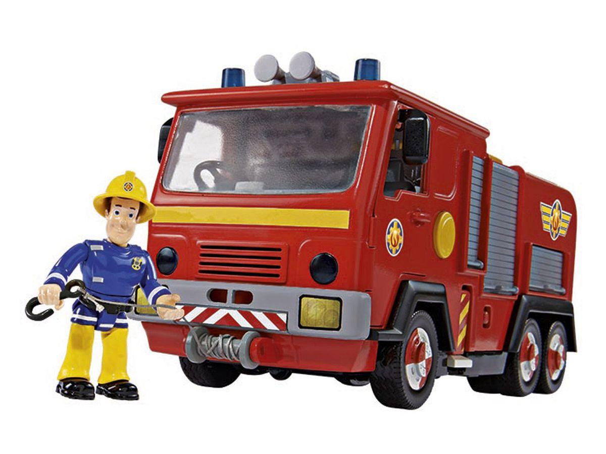 Bild 4 von Simba Feuerwehrmann Sam Feuerwehrauto Jupiter mit 2 Figuren