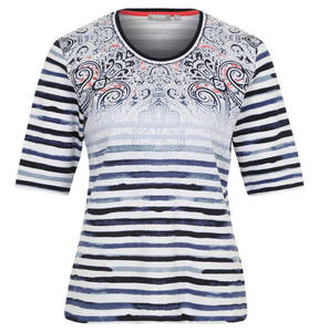 RABE             T-Shirt, Mustermix, Used-Look, reine Baumwolle