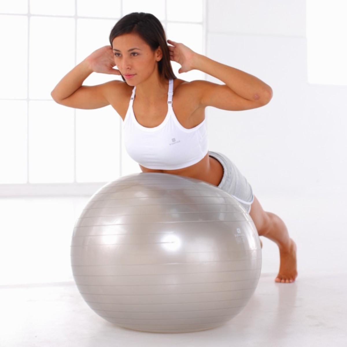 Bild 5 von Gymnastikball Anti-Burst platzsicher M 65cm grau/silber