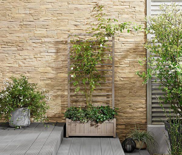 pflanzkasten mit rankgitter von tchibo ansehen. Black Bedroom Furniture Sets. Home Design Ideas