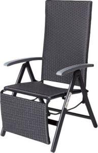 Summer Casual Geflecht Relax-Sessel schwarz