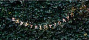 Garden Pleasure 504433 Solar LED-Lichterkette mit 54 Buchstaben