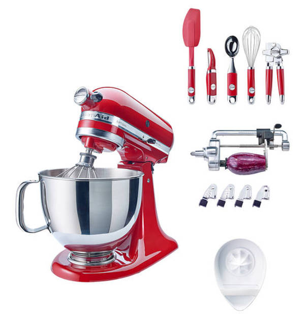 kitchenaid artisan set 5ksm125eer empire red kippbarer motorkopf planetenr hrwerk. Black Bedroom Furniture Sets. Home Design Ideas
