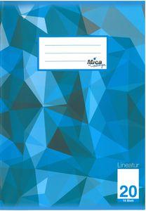 Schulheft DIN A4 blanko - Lineatur 20