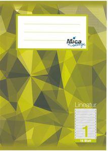 Schreibheft DIN A5 liniert - Lineatur 1 - 1. Klasse