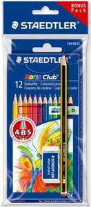 12 Buntstifte Noris Club Promo mit 1 Bleistift HB und Radierer